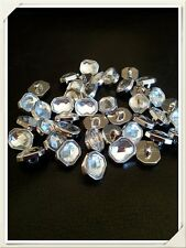 20 Glass effect Silver Buttons 12mm Shirt Blouse Arts & Crafts (126)