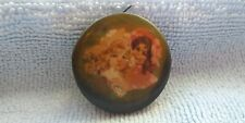 Antique Vintage Girls on Sewing Tape Measure with Mirror & Celluloid Fronts