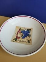 """Made Italy vintage Serving Pasta Bowl Over and Back Wine Grape Winery Fruit 13"""""""