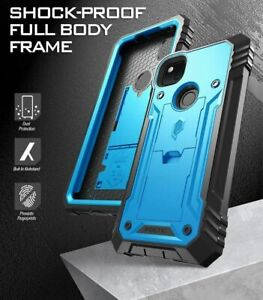 Poetic Shockproof For Google Pixel 4A Case,Full Coverage Protective Cover Blue