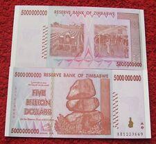 ZIMBABWE 5 BIILLION DOLLARS AB SERIES 2008 YEAR UNC FIVE BIILLION DOLLARS