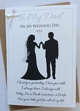 Handmade Personalised Dad from Daughter Father of the Bride on Wedding Day Card