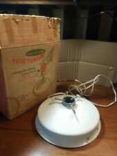 Vintage Christmas Tree Turner Revolving Stand Holly Time LOUD