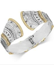 $55 Lucky Brand two tone pave hinged bangle 0117