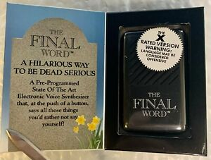 The Final Word Voice Box - Cursing - Offensive Language - Vintage 1990 - New