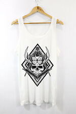 Butterfly Skull Printed Vest Tank Top Urban Hipster Fashion Design Mens Girls