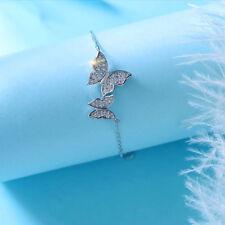 High Quality Charm Austrian Crystal Butterfly Bracelets Bangle For Women Sl386