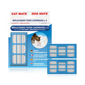 PET MATE REPLACEMENT FILTER CARTRIDGES x 2 FOR CAT MATE DOG MATE FOUNTAINS 339