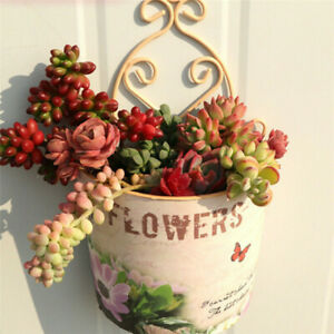 Wall Hanging Planter Plant Pot Trough Garden Fence Balcony Railing Flower Basket
