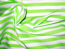 Green & White Striped Fabric Material POLY COTTON Crafts Quilting Sewing 1M
