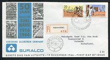 Suriname FDC E51 _ 4 M, code 2, aangetekend met adres ;