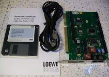 Loewe ISCOM ISDN-Controller C50 ISA Karte selten 1993 mit Kabel + Handbuch