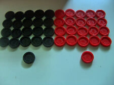 CONNECT 4 connect 4 FOUR Set 42 Black Red Checkers Parts Pieces(21 each color)