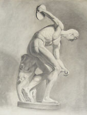 ANTIQUE NUDE DRAWING - OLYMPIC