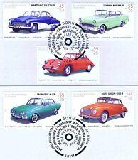 BRD 2003: Kultautos II Wohlfahrt Nr 2362-2366 mit Bonner Sonderstempeln! 1A 1708