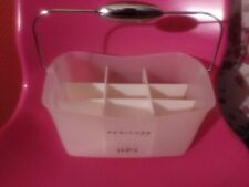 OPI 💅 Nail Polish Pedicure Travel Carrying Case White Plastic Caddy W/ Handle