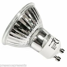 8 x POWERSAVE HALOGEN GU10 LOW ENERGY SAVER LIGHT BULB 50 w WATT DIMMABLE