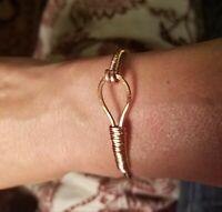 Solid Copper Bracelet Cuff Handmade Wire Wrap