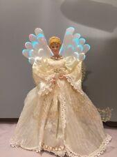 "Frank's 14"" Vtg Fiber Optic Angel Christmas Tree Topper/Table Piece-Beautiful"