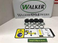 WALKER DECK BUSHING KIT OEM Bushings,snap rings,shims, thick rubber washer&DECAL