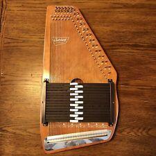 VINTAGE 1975 OSCAR SCHMIDT AUTOHARP 15 Chords 36 Strings Hard Case, Tuning Key +