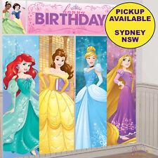 DISNEY PRINCESS PARTY SUPPLIES SCENE SETTER BIRTHDAY WALL DECORATIONS
