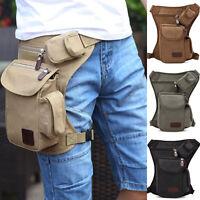 Mens Multifunction Outdoor  Sport Leg Bag Canvas Waist Bag Money Belt Fanny Pack