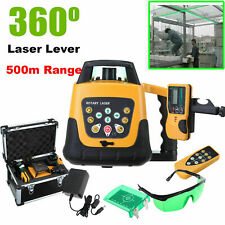 NEU Rotary / Rotating Green Laser Level Kit Mit Case 500M Reichweite