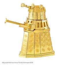 Fascinations Metal Earth 3D Laser Cut Steel Model Kit Doctor Who Gold Dalek