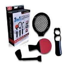 Sports Pack 3 En 1 Raqueta De Tenis Club De Golf Ping Pong Para Playstation 3 Ps3 Move