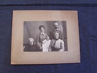 antique cabinet photo the Faulks family of Buffalo New York, 5 generations, nice