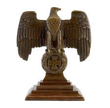 Bronze Reichsadler 1.WK auf Eisernem Kreuz - Echte Bronze - sign.