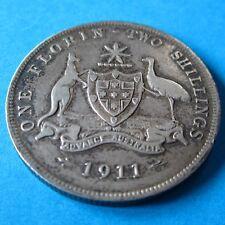 1911 Australia 2/- Two Shillings One Florin #PW1804-22