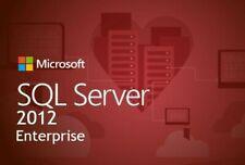 SQL Server 2012 enterprise 24 cores Unlimited Cal product key/30 SEC DELIVERY