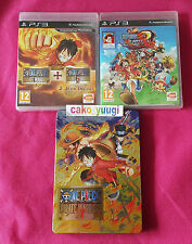 ONE PIECE PIRATE WARRIORS 1 & 2 + ONE PIECE 2 UNLIMITED WORLD RED SONY PS3 ++++