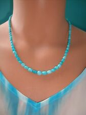 NEW Jay King White Cloud Turquoise Beaded Sterling Silver Necklace