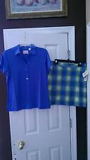 NWT Ladies EP PRO AMALFI COAST GOLF OUTFIT Skort Short Sleeve Shirt - size 6 M