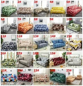 1 2 3 4 Seater Stretch Chair Sofa Cover Couch Elastic Slipcovers Protector Decor