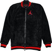 NEW Nike Air Jordan AJ1 BRED Shearling Fleece Men's Jacket Black Red AH7911-133