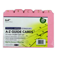 "A - Z Index Divider Guide Card Set, Pack of 25 - Size 6"" x 4"""