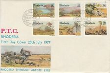 1977 Rhodesia Art Paintings Landscapes First Day Cover