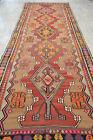 Vintage Turkish Kilim Rug Hand Woven Wool Kilim Large Runner 59 x 160 inches