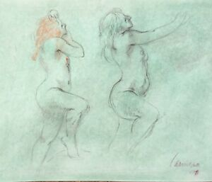 Harry Carmean life drawing of standing female model 1997