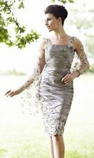Ian Stuart Mother of The Bride Dress and Shawl, Size 12.