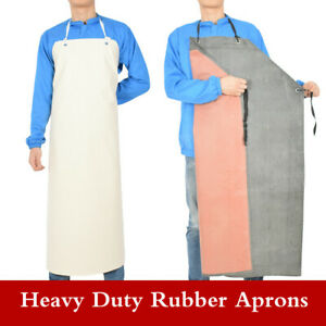 Men Waterproof Heavy Duty Rubber Aprons Factory Kitchen Butcher Overall Pinafore