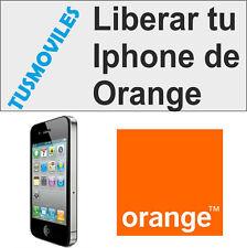 Unlock Libera Liberar Iphone ORANGE 4 4S 5 5S 5C 6 6 Plus 3GS 3 todos RAPIDO 1-6