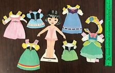 Vintage Storybook Paper Doll Jan with costumes Whitman 1960's original
