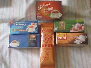 6 Box Mixed Tea Upet,Sosro,Poci,Sariwangi,Cap Botol, 2Tang Real Tea FREE AirMail