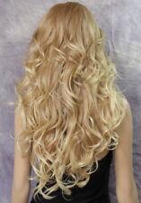 Long Blonde Mix Human Hair Blend Full Wig Goregeous wavy Heat Safe WBVA 27/613