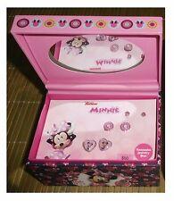 DISNEY Minnie Mouse Fashion 3 Earrings Set Keepsake Jewelry Gift Box Studs